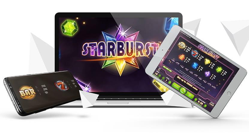 Starburst online slot gameplay